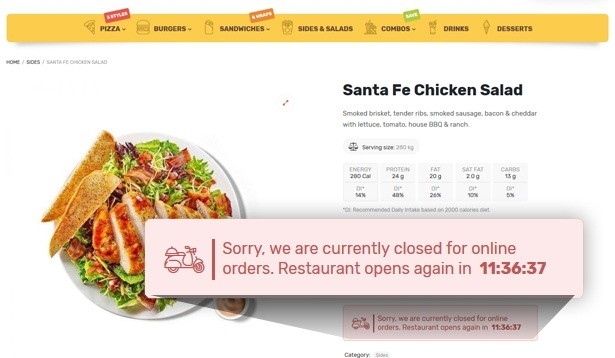 Site Para Pizzaria e Fast-food
